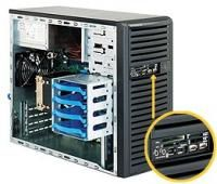 Корпус SuperMicro CSE-731D-300B Mini-Tower 300W черный